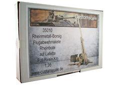 CustomScale 1:35 Flugabwehrrakete Rheinbote with Launcher Resin Kit #35010