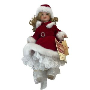 Dynasty Holiday Porcelain Doll Eve 12 Inches