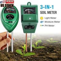 3In1 Digital Soil PH Tester Water Moisture Light Test Meter Garden Plant Flower