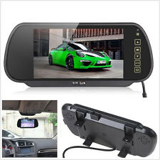 "7"" TFT LCD Color Car Rearview Mirror Reverse Backup HD Monitor Screen Waterproof"