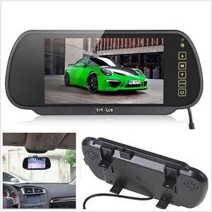 "7"" TFT LCD Color Car Rearview Mirror Reverse Backup HD Monitor Screen Waterproof"
