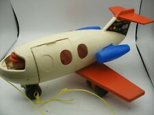 Vintage 1970 Fisher Price little people Play Family AVION de ligne FUN JET