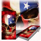 Cornhole Wraps Patriot Skull American Flag - Set of 2 Adhesive Vinyl Sheets