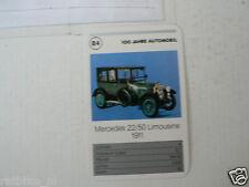 52-MERCEDES 100 JAHRE B4 MERCEDES 22/50 LIMOUSINE  1911 KWARTET KAART,CARD