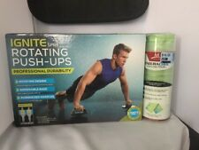 Ignite by SPRI Rotating PUSH-UPS with Free Cool Towel Weight Loss Work Out