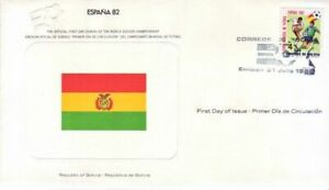 Bolivia - World Cup Soccer, Spain (WSC FDC) 1982