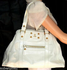 FENDI White Patent Leather Large  Borsa De Jour  Tote Shoulder Bag 2fc6c6d8e64df