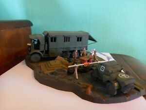 Built and Painted 1/72 Matchbox Montgomery Caravan Diorama