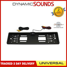 Rear View Reversing Parking Colour Camera & Car Number Plate Frame for FIAT 500