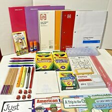 Back to School Supplies Lot Pencils,Pens,Glue,Notebooks,Markers,Crayons and More