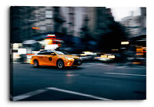 New York Yellow Cab Taxi Abstract Canvas Wall Art Picture Home Decor