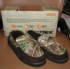 MENS REALTREE EXTRA CAMOUFLAGE MOCCASINS SLIPPERS HOUSE SHOES SIZE 9.5 10.5 LG