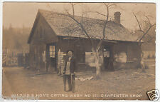 RPPC - Orting, Washington - Soldiers Home Carpenter Shop - early 1900s