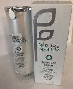 PURE Nerium Daily Face Cream  SPF 20 Nerium Aloe Extract  NIB SEALED 1FL Oz