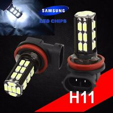 H11 Samsung Chip LED 30 SMD Bright White 6000K Headlight 2 x Light Bulb Low Beam