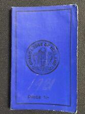 1931 Irish Freemasons' Calendar & Directory, Masonic Grand Lodge of Ireland