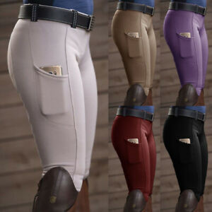 Women High Waist Horse Riding Pants Elastic Skinny Climbing Equestrian Trousers