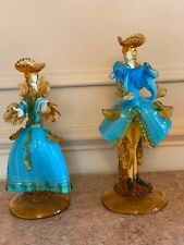 Murano Glass G Toffolo Courtesan Figurines - 1960s