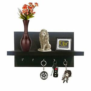7 Rack Wooden Key Holder for Home Decor Wall Stand Hanger Ring Chain Mount