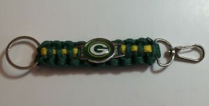 New Green Bay Packers Paracord Keychain, Gift for Her Mom Him Dad