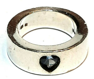 JOOP! Ring Silber 925 Sterling mit Kristall Herz RG 59 Ø ca. 18,8mm