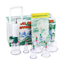 6 Cups &Pump Vacuum Cupping Acupuncture Hijama Chinese Therapy Treatment Suction