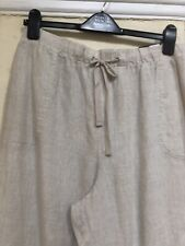 BNWT MARKS & SPENCER COLLECTION WIDE LEG FLAX LINEN TROUSERS SIZE 20 MEDIUM
