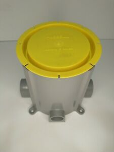 Hubbell-Raco 5511 Floor Box Plastic New Work Deep Round Floor Electrical Box