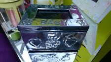 Cute Silver Baby Trinket Box with Small Picture Frame BNWT