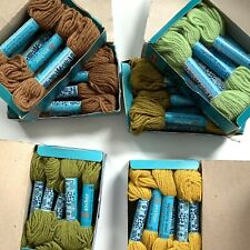 Lot of 58 ANCHOR 100% Wool Tapisserie Tapestry Yarn 15 yards ea skein Brown Gree