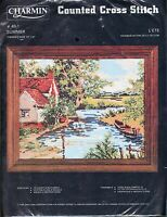 """Charmin Counted Cross Stitch #49-1 Summer Kit New 10"""" x 8"""""""