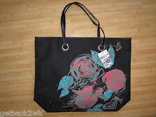 NEW* ROXY BAG HANDBAG LARGE TOTE BACKPACK BLACK FLORAL