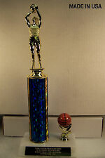 "BASKETBALL TROPHY AWARD 14"" TALL MorF FREE ENGRAVING SHIPS 2 DAY PRIORITY MAIL"