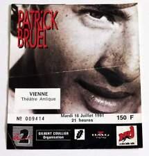 PATRICK BRUEL : billet ticket concert VIENNE 16/07/1991