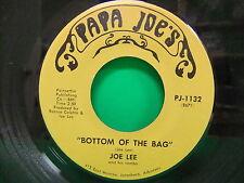 Joe Lee and his Combo Bottom Of The Bag / Close To You 45 Papa Joe's PJ 1132