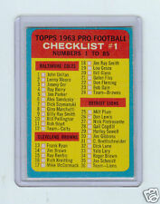 1963 TOPPS #85 CHECKLIST #1 - CLEAN & UN-MARKED !!!