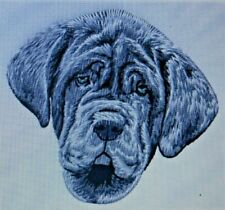 Grey Neapolitan Mastiff puppy Dog Breed Set Of 2 Hand Towels Embroidered