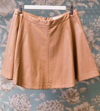 Cute Lovely Girl Faux Leather Mini Skirt - Size: M