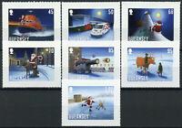 Guernsey Christmas Stamps 2020 MNH Santa's Visit Santa Claus Reindeer 7v S/A Set