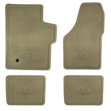"OEM NEW 05-07 Ford Super Duty Pebble Tan Carpet ""King Ranch"" Logo Floor Mat Set"