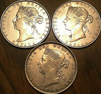 1870 1871 1872 CANADA SILVER 50 CENTS - Very nice coins Not junk Worth a Look!