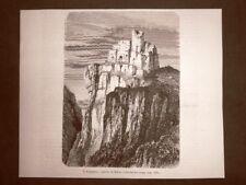 Il Regenstein nel 1863 Castello di Enrico I di Sassonia o l'Uccellatore Germania