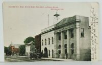 IN Valparaiso Indiana Ave State Bank Fire Dept Opera House 1907 udb Postcard M20