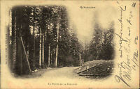 Gérardmer Frankreich Postkarte 1902 Route de la Schlucht Verlag Weick gelaufen