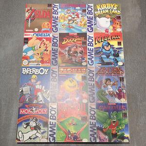 Gameboy Welt Sammler Zelda Mario Land Pokemon Wario Kirby Adventure Island usw