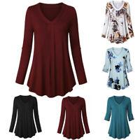 Women Cotton Swing Short Sleeve Tunic Tops Blouses Loose Plus Size T-Shirt Dress