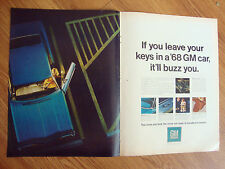 1968 GM General Motors Ad  Leave Your Keys in a GM Car It'll Buzz You