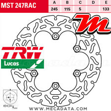 Disque de frein Arrière TRW MST 247 RAC Yamaha YZF 1000 Thunderace (4VD) 2002