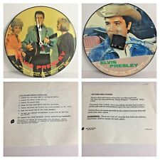 ELVIS PRESLEY INTERVIEW PICTURE DISCS CLOCK LIMITED EDITION REVERSIBLE