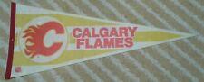 Calgary Flames Full Size NHL hockey Pennant 1980s